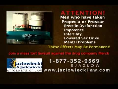 Propecia Lawsuit (Permanent Adverse Side Effects Bad Results)