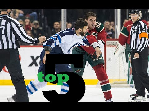 Top 5 nhl hockey fights of december 2015 youtube