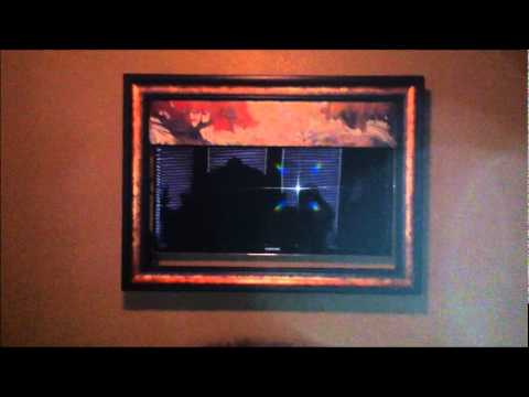 visionart frame with 46 samsung led tv youtube. Black Bedroom Furniture Sets. Home Design Ideas