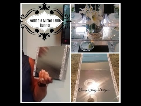 DIY: Dollar Tree - Foldable Mirror Table Runner -Home ...