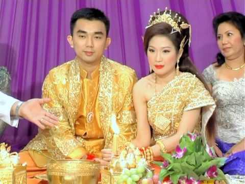 Beautiful Traditional Khmer wedding ceremony at Koh Pich City Hall - Part 7