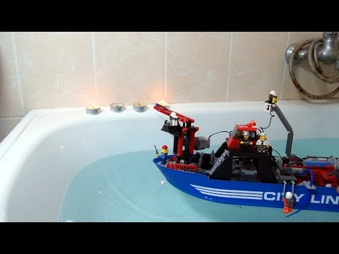 Lego Technic RC Fire Boat With Working Water Cannon