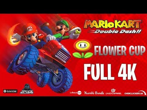 Mario Kart Double Dash In 4k Uhd Gamecube Flower Cup Youtube
