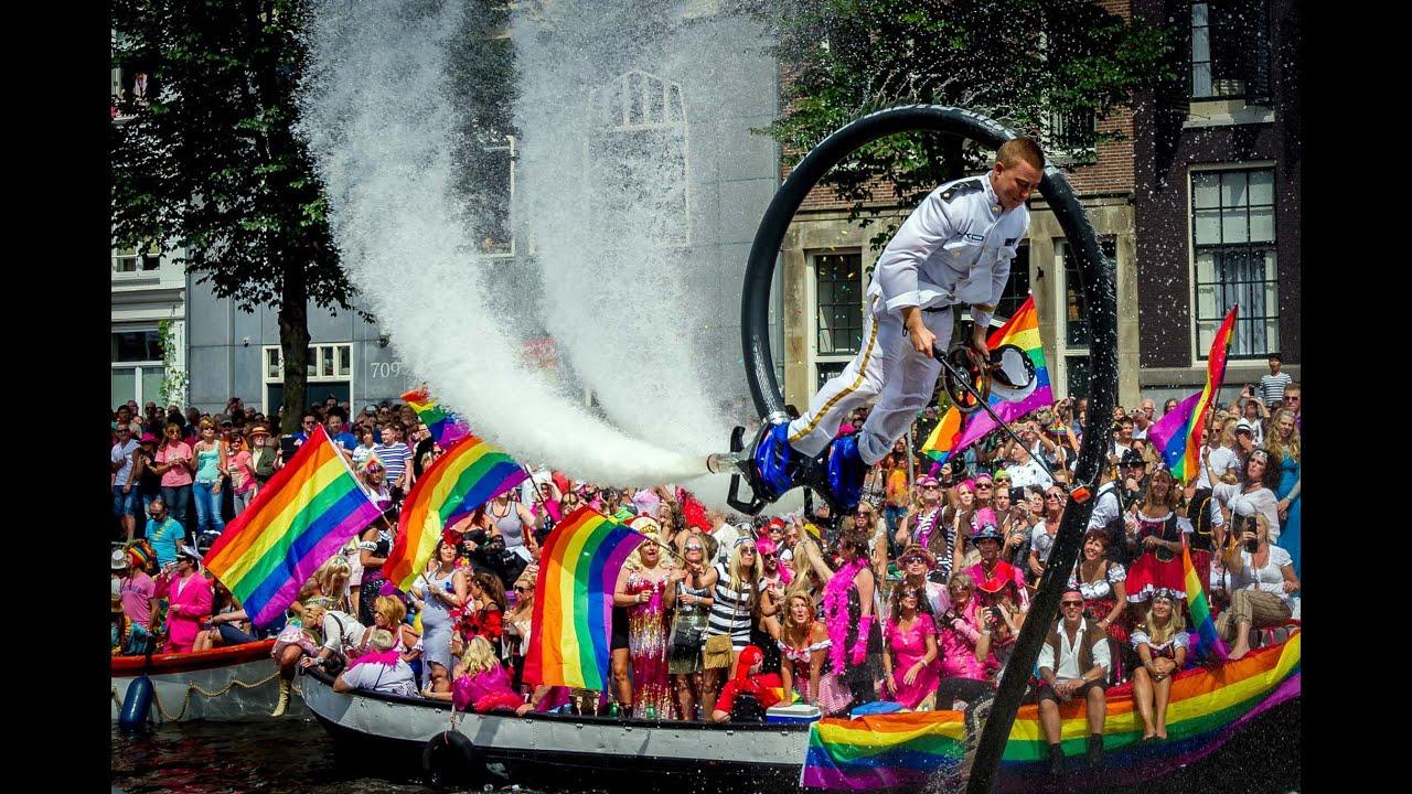 Gay parade bike amsterdam