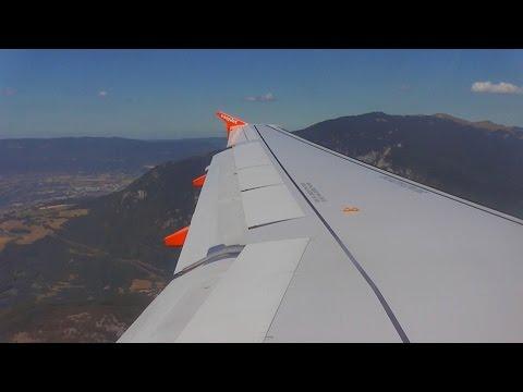 easyJet Airbus A320 G-EZWF - Bristol to Geneva *Full Flight* (Amazing Scenic Approach!)