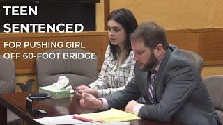 Watch: Teen sentenced for pushing girl off bridge in Washington