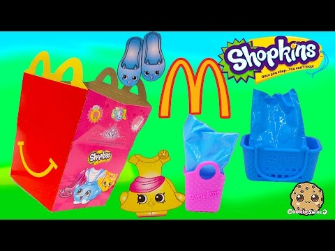 Mcdonalds Fast Food Happy Meals Exclusive Shopkins Seasons 1, 2, 3, 4  Surprise Blind Bags Video