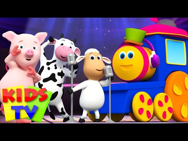 Bob The Train | Animal Sounds Songs for Kids | kids tv shows | nursery rhyme  |  Bob the train