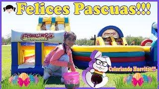 Celebrando la Pascua Decorando Huevitos Huevitos Llenos de Dulce y Globos Inflables