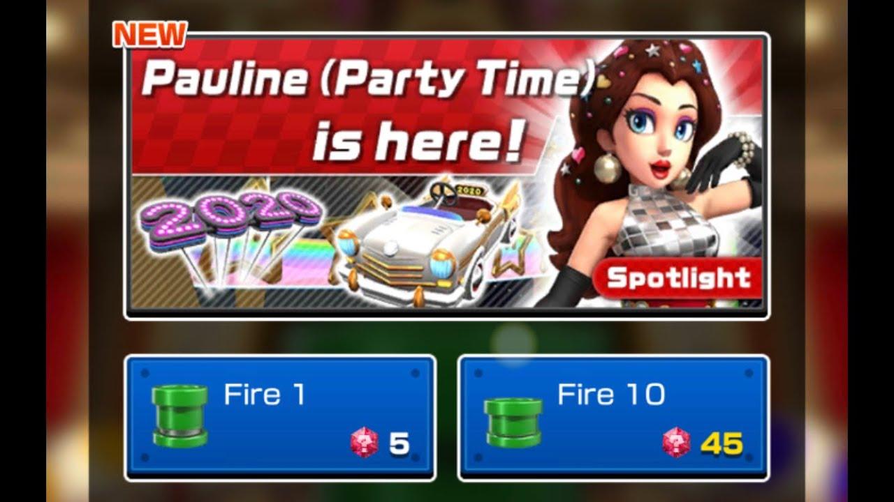Mario Kart Tour Firing 10 Gold Pauline Party Time