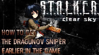 STALKER Clear Sky PC How to obtain the Dragunov Sniper Rifle early in the game HD[720p]