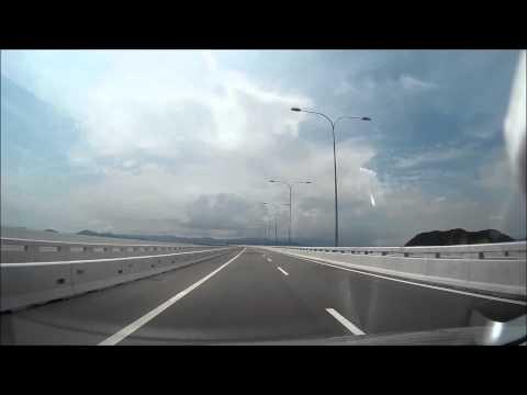 Crossing Penang 2nd Bridge.