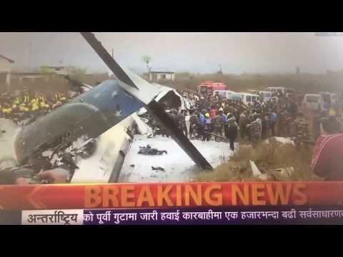 Live, US-Bangla Flight Carrying 71 Crashes At Kathmandu Airport