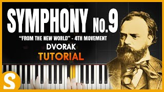 how to play symphony no 9 new world 4th movement dvorak   synthesia piano tutorial hd