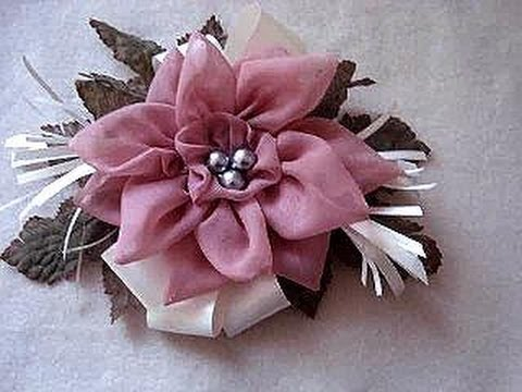 How To Make A Silk Flower Fascinator On Headband Or Barrette For Bridal Special Occasions