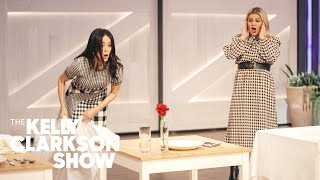 Kelly Tries The Tablecloth-Pull Magic Trick And Totally Nails It