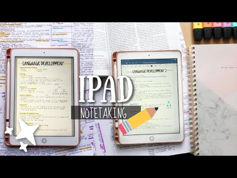 HOW I TAKE NOTES ON MY IPAD 2018 | Apple Pencil & GoodNotes