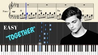 Martin Garrix - Together Piano Tutorial (Cover + SHEETS) with Lyrics | Synthesia Lesson