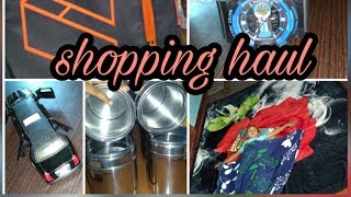 Amazon Shopping haul in tamil/online purchase / bed covers, stainless steel water bottles/kids toys