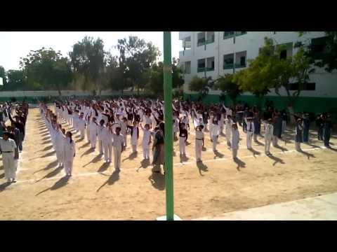Nasra School Children Displaying PT