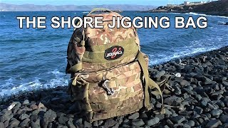 The SHORE JIGGING Bag. Everything I carry with me on the rocks