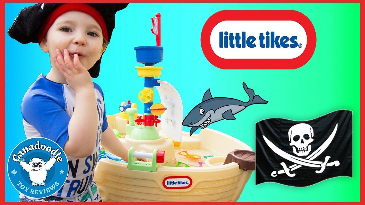 Little Tikes Anchors Away Pirate Ship Water Table Fun Thomas Minis Surprise