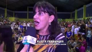 Crianças lotam quadra no lançamento do programa PETECA e Agrinho em Quixeré diz Eliete Fernandes