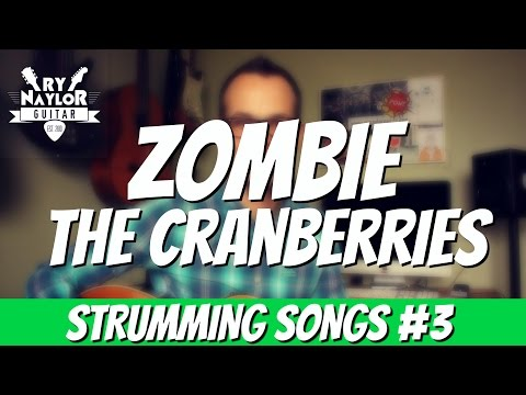 Zombie Guitar Lesson (The Cranberries) Easy Guitar Strumming Songs for Beginners