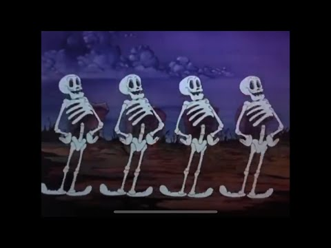 Spooky Scary Skeletons in Color