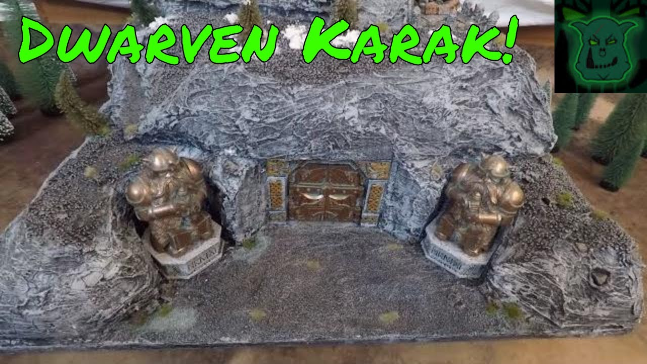 DIY: Mines of Moria / Erebor  Scale 28mm Terrain for Miniature Wargaming  (Warhammer) & DnD!