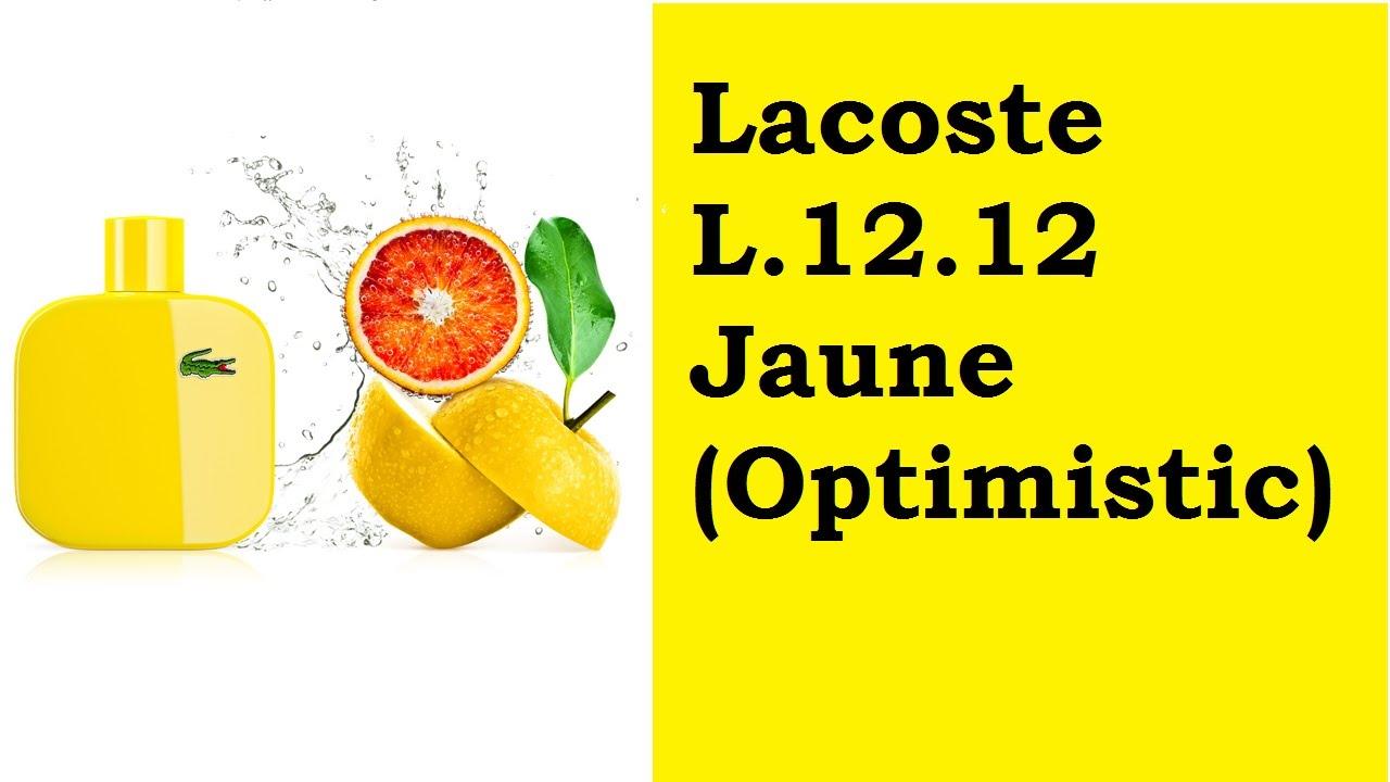 szybka dostawa obuwie unikalny design eau de Lacoste L.12.12 Jaune (Optimistic) - review