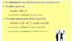 Bias and MSE