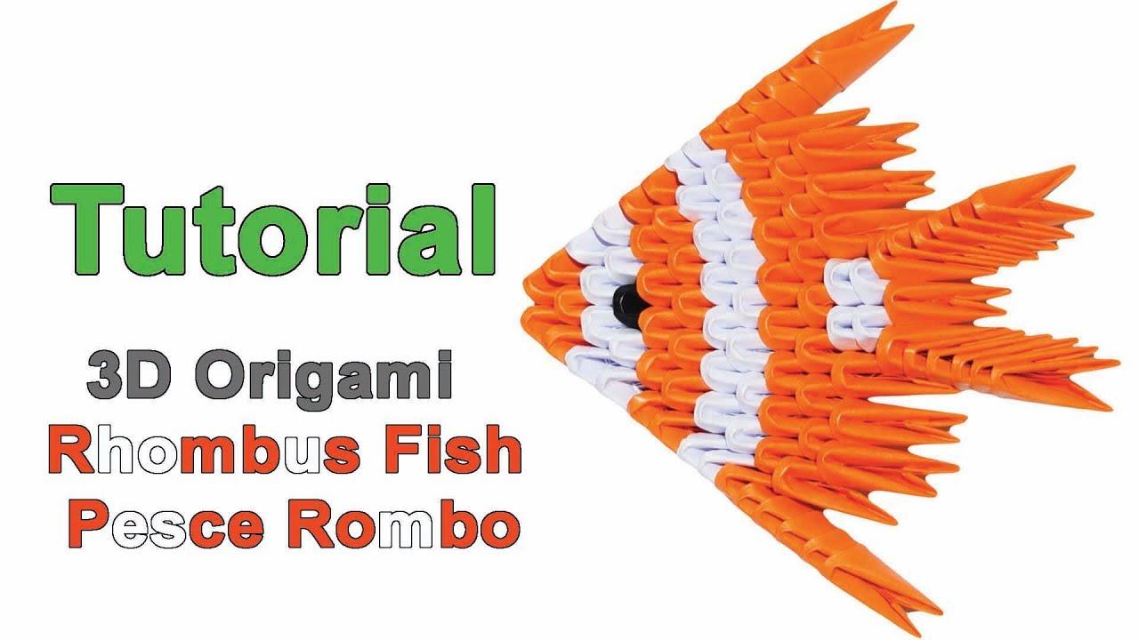 Origami 3d Rhombus Fish Tutorial 132 Origami 3d Pesce Rombo