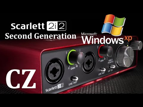 Focusrite Scarlett 2i2 Second Gen Na Windows XP - Návod {CZ}
