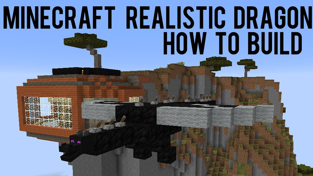 minecraft how to build toothless in minecraft
