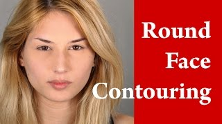 Contouring and highlighting a ROUND face - How to apply makeup on round face tutorial Thumbnail