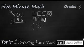 3rd Grade Math Subtracting Across Zeros