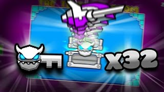 AMAZING ICONS!!!! | Opening 36 Geometry Dash treasure room chests