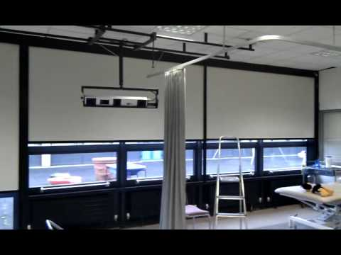 Full download synchronized motorized blackout blinds Motorized blackout shades with side channels