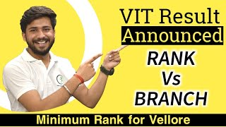 VIT Vellore Result Announced 2020   🔥  Rank Vs Branch 🔥 Category wise Cut-offs