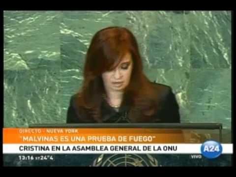 Ante la ONU, Cristina volvió a reclamar a Inglaterra que retome las negociaciones por Malvinas