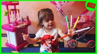 Кухня игрушечная с приборами детская кухня готовим морковку с магнитами играем игрушечной плитой(Готовим на игрушечной кухне с приборами морковку с магнитами и кормим куклу Сонечку. Магниты получились..., 2016-05-29T09:00:00.000Z)
