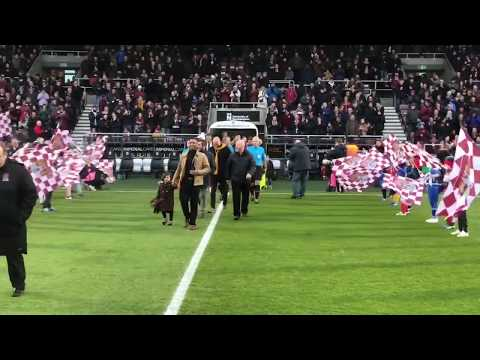 WALK OUT CAM: Northampton Town v Grimsby Town