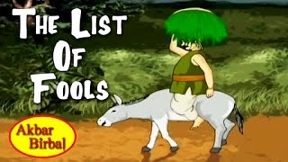 Akbar Birbal Tales In English | The List Of Fools | English Animated Stories For Kids
