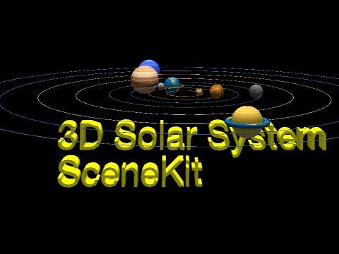(#3)  3D Solar System with Apple IOS Scenekit (08-16-2015)