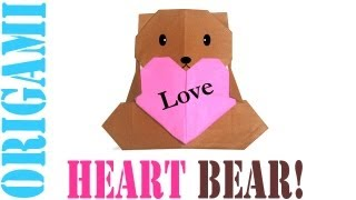 Origami Daily - 285: Heart Bear For Mother's Day - Tcgames [hd]