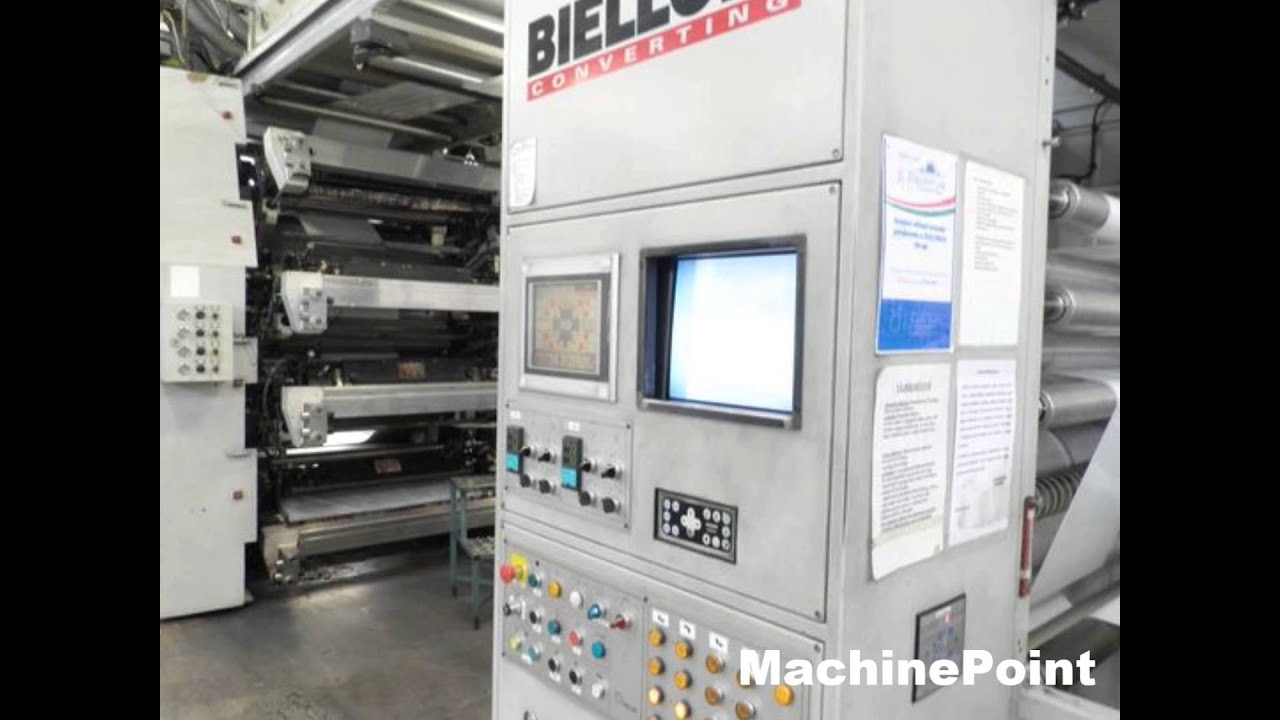 BIELLONI AXSA 8 SLV Second Hand 8-10 Colours CI flexo presses MachinePoint