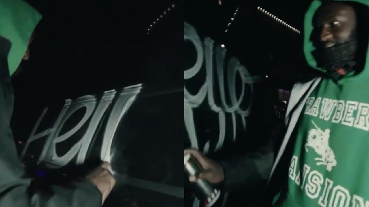 Virgil Abloh Spray Painting Van