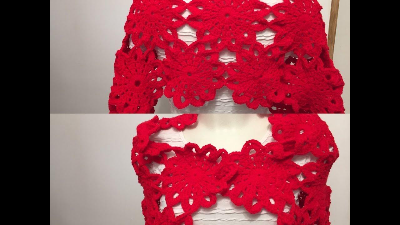 tuto motif fleur pour tole chemin de table gilet au crochet youtube. Black Bedroom Furniture Sets. Home Design Ideas