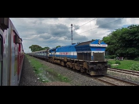 LHB Journey in NAGDA-KOTA High Speed Section : INDIAN RAILWAYS